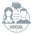 social logo simple gray style vector image