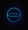 volume sphere blue icon vector image
