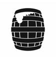 Barrel of beer icon simple style vector image