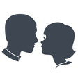 couple face silhouette vector image vector image
