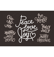 Collection of hand written Christmas phrases for i vector image vector image