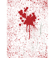 blood stains on scratched texture background vector image
