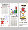 business kids hand drawing cartoon characters vector image