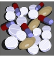 Pills set in color 01 vector image