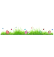 Green grass with Easter eggs vector image