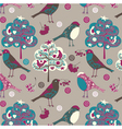 birds and trees wallpaper vector image vector image