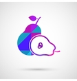 pear and its half vector image