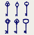 Antique keys collection vector image