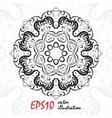 Black and white geometric mandala background vector image