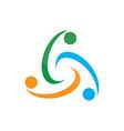 circle colored abstract logo image vector image