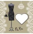 Little black dresses chandelierpaisley border vector image