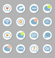 message bubble icons set vector image