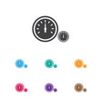 of transport symbol on clock vector image