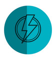 power ray symbol icon vector image