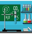 Science classoom Education concept Flat style vector image