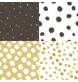 set of four paint texture background vector image