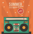 summer music festival stereo radio vintage card vector image