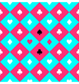Card Suits Blue Pink Chess Board Diamond vector image