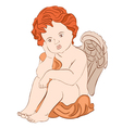 serene angel vector image vector image