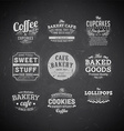 Chalk Board Restaurant Set vector image