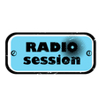 radio session vector image vector image