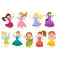 Fairy princess adorable characters vector image