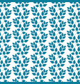 turquoise twig pattern vector image