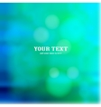 Colorful blue bokeh background vector image vector image