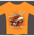 Tee with skateboard vector image