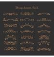 Flourish embellishments Flourishes filigree vector image