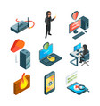 icon set of internet security web protection vector image