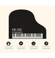 Music Infographic with Grand Piano on top204 vector image