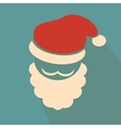 Nice face of santa claus on blue background vector image