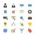 SEO Development Flat Icons color vector image