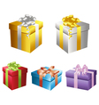 Set of gift boxes 2 vector image