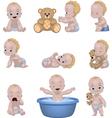 Set of funny children vector image