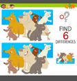 spot the differences with dogs vector image