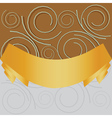 Swirl background with yellow ribbon vector image