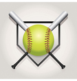 Softball Bat Plate vector image