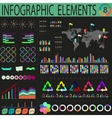 Varicoloured dark world infographics vector image