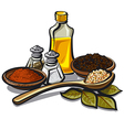 condiments and flavoring vector image vector image