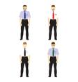 Male figures avatars Business people avatars Icons vector image