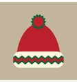 flat icon on stylish background winter hat vector image