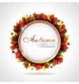leaves background with copy space vector image vector image