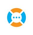 abstract circle chat logo image vector image