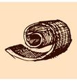 Broken chocolate shavings cocoa hand drawn sketch vector image