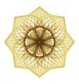 gold beautiful decorative ornate mandala vector image
