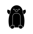 penguin cute icon black sign vector image