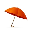 red umbrella isolated vector image