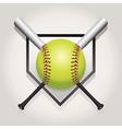 Softball Bat Plate vector image